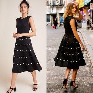 Anthropologie | NWT Beatrice Midi Dress Black 10